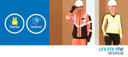 Trabajador con uniforme operario de color naranja