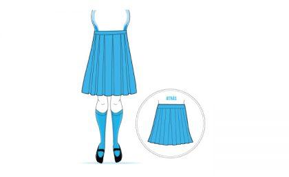 8a8f9cdaf1 Procedimiento para confeccionar una Falda Escolar - Lafayette UNI FOR ME